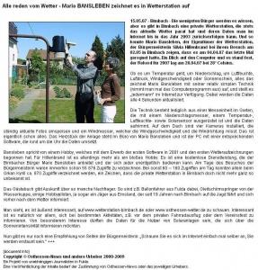 15.05.2007, Bericht vom Besuch der Großenlüderer Bürgermeisterin