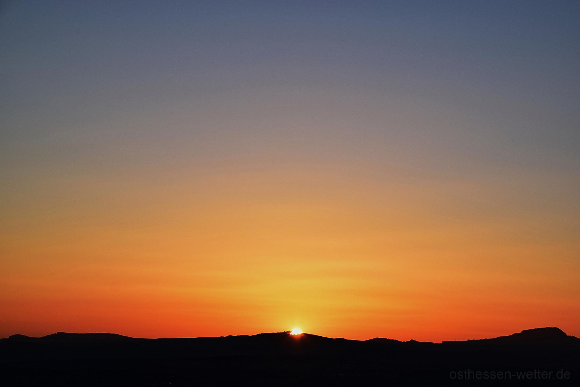 Sonnenaufgang am 25.03.2020 um 06:20:46 CET